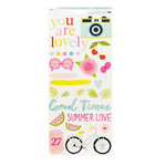 American Crafts - Dear Lizzy Collection - Happy Place - Cardstock Stickers - Accent and Phrase