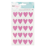 American Crafts - Dear Lizzy Collection - Happy Place - Glitter Stickers - Hearts