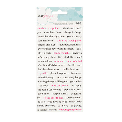 American Crafts - Happy Place Collection - Cardstock Stickers - Phrases