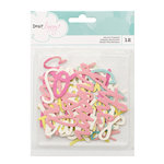 American Crafts - Dear Lizzy Collection - Happy Place - Die Cut Cardstock Pieces - Phrases - Watercolor