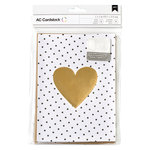 American Crafts - Valentines Cards - 5 x 7 - Kraft and Gold Foil