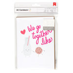 American Crafts - Valentines Cards - 5 x 7 - We Go Together