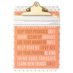 American Crafts - 9 x 12.5 Clipboard with Print - Be Happy