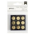 American Crafts - Push Pins - Gold Circles