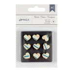 American Crafts - Push Pins - Stripe Heart