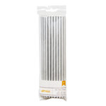 American Crafts - Metallic Straws - Solid - Silver