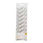 American Crafts - Metallic Straws - Stripe - Silver