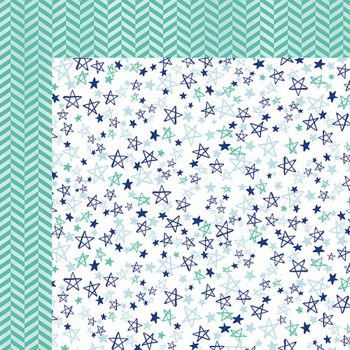 American Crafts - Better Together Collection - 12 x 12 Double Sided Paper - Stars and Stripes