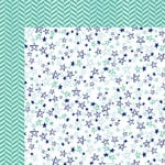 American Crafts - Amy Tangerine Collection - Better Together - 12 x 12 Double Sided Paper - Stars and Stripes