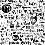 American Crafts - Amy Tangerine Collection - Better Together - 12 x 12 Transparency - Black and White