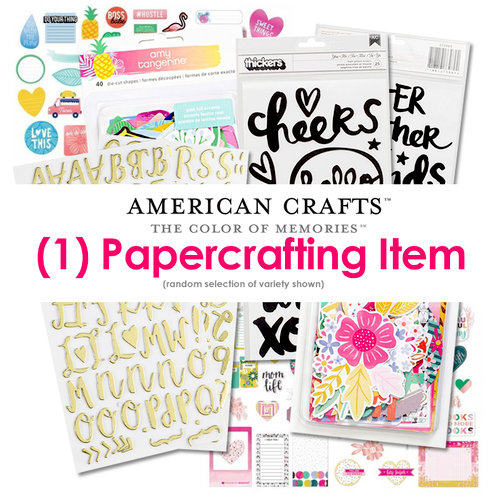 American Crafts - Papercrafting Variety - Random Selection