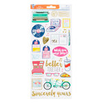American Crafts - Amy Tangerine Collection - Better Together - Clear Stickers with Foil Accents - Transparent - Accent and Phrase