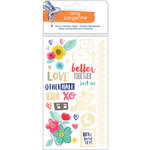 American Crafts - Amy Tangerine Collection - Better Together - Rub Ons with Foil Accents