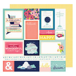 American Crafts - Shimelle Collection - Starshine - 12 x 12 Double Sided Paper - Astro