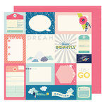 American Crafts - Shimelle Collection - Starshine - 12 x 12 Double Sided Paper - Odyssey