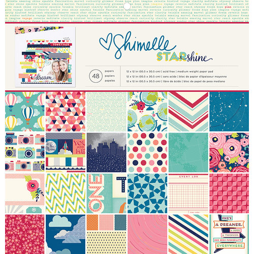 American Crafts - Starshine Collection - 12 x 12 Paper Pad