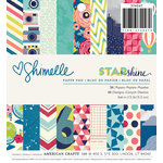 American Crafts - Shimelle Collection - Starshine - 6 x 6 Paper Pad