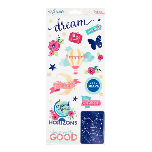 American Crafts - Starshine Collection - Clear Stickers - Accent and Phrase - Two