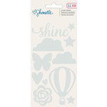 American Crafts - Shimelle Collection - Starshine - Acrylic Shapes