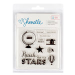 American Crafts - Shimelle Collection - Starshine - Clear Acrylic Stamps
