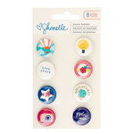 American Crafts - Shimelle Collection - Starshine - Flair - Buttons