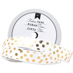 American Crafts - Fabric Tape - Gold Scatter Dot - 0.625 Inches