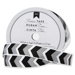 American Crafts - Fabric Tape - Black Bold Chevron - 0.625 Inches