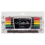 American Crafts - Hall Pass Collection - Adult Coloring - Creative Zen - Coloring Markers - Primary - 5 Pack
