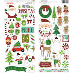 American Crafts - All Wrapped Up Collection - Christmas - Stickers - Accents and Phrases