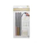 American Crafts - Metallic Markers - Rose Gold, Gold, Silver - 3 Pack