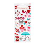American Crafts - Valentines 2017 Collection - Cardstock Stickers - Accents and Phrases - Two