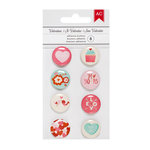 American Crafts - Valentines 2017 Collection - Mini Flair Stickers