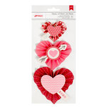 American Crafts - Valentines 2017 Collection - Heart Rosettes