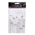 American Crafts - Creative Zen Collection - Adult Coloring - Coloring Cards - Airplane - Thank You