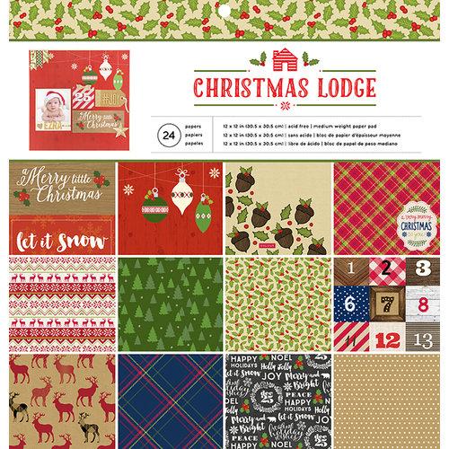 The Christmas Lodge.American Crafts Christmas Lodge 12x12 Paper Pad