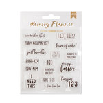 American Crafts - Memory Planner Collection - Clear Acrylic Stamps