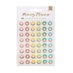 American Crafts - Memory Planner Collection - Cardstock Stickers - Hole Reinforcers with Foil Accents