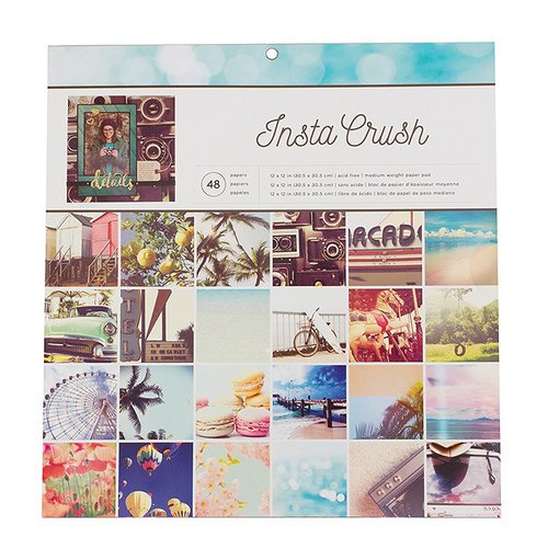 American Crafts - 12 x 12 Paper Pad - Insta Crush Photo Real