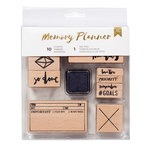 American Crafts - Memory Planner Collection - Marble Crush - Wood Stamp Pad Set