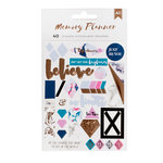 American Crafts - Memory Planner Collection - Marble Crush - Cardstock Stickers with Foil Accents