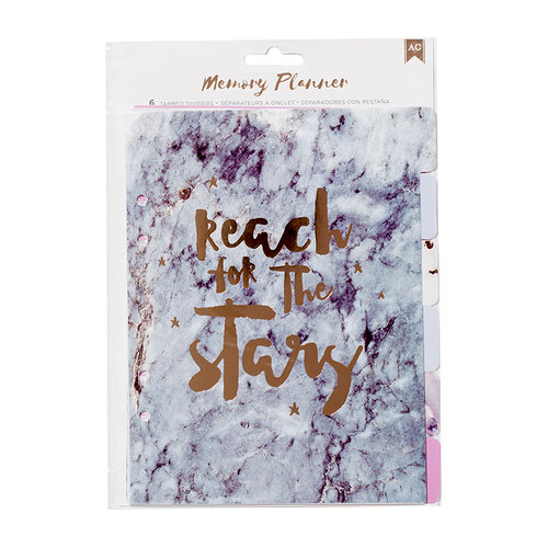 American Crafts - Memory Planner Collection - Marble Crush - Dividers