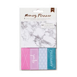American Crafts - Memory Planner Collection - Marble Crush - Sticky Note Paper Pad