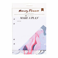 American Crafts - Memory Planner Collection - Marble Crush - Planner Inserts - Event