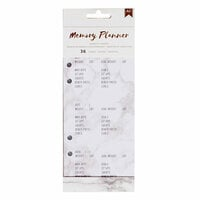 American Crafts - Memory Planner Collection - Marble Crush - Planner Inserts - Workout