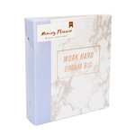 American Crafts - Memory Planner Collection - Marble Crush - Binder - Work Hard