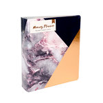 American Crafts - Memory Planner Collection - Marble Crush - Binder - Gold Corner