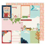 American Crafts - Go Now Go Collection - 12 x 12 Double Sided Paper - Run