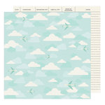 American Crafts - Go Now Go Collection - 12 x 12 Double Sided Paper - Fly
