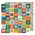 American Crafts - Go Now Go Collection - 12 x 12 Double Sided Paper - Action