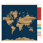American Crafts - Go Now Go Collection - 12 x 12 Double Sided Paper - Here